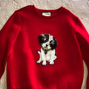 f0928c3e7ab Gucci Red Sweater Sequined Puppy